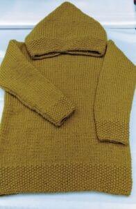 maglia con cappuccio signora