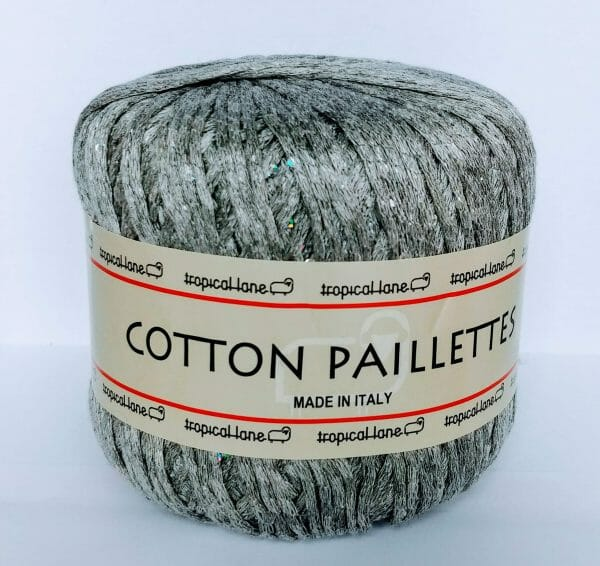 Tropical lane cotton paillettes